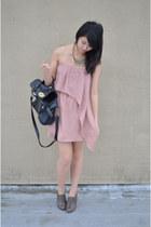 stitchedadorned dress - Zara shoes