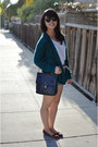 Thrifted-shoes-thrifted-bag-thrifted-shorts-urban-outfitters-cardigan