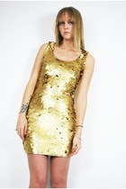 gold Anne Klein dress
