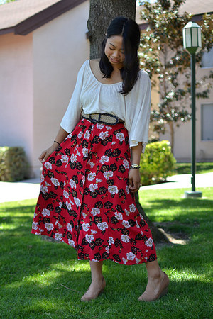 Urban Outfitters shoes - Ross belt - thrifted skirt - Forever 21 top