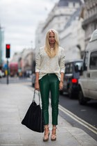 black Stella McCartney bag - Topshop jumper - eggshell lanvin sandals
