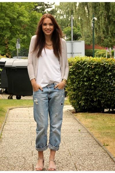chic Bijou Brigitte necklace - casual H&M cardigan - boho H&M pants