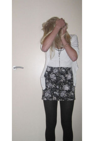 geisha cardigan - New Yorker top - gray H&M skirt
