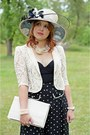 Black-polka-dot-forever-21-pants-ivory-sinamay-hat-jacques-vert-hat
