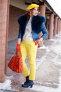 Blue-leather-fluevog-boots-blue-leather-danier-jacket