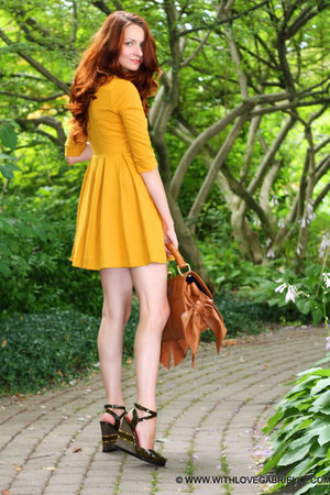 H&amp;M dress - Zac Posen bag - Marc by Marc Jacobs wedges