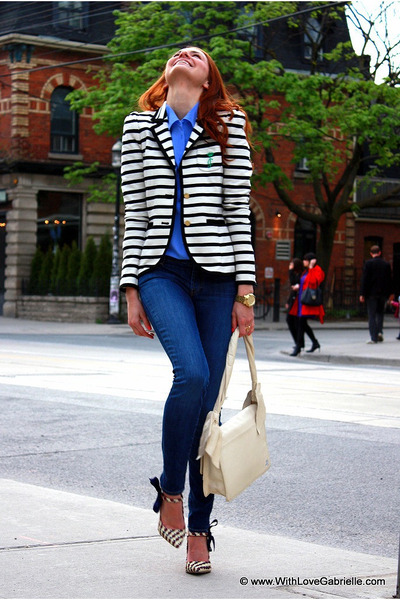 Juicy Couture blazer - 7 for all mankind jeans - Zac Posen bag