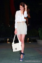 Zac Posen bag - Club Monaco shorts - Theodora & Callum wedges - Aritzia blouse