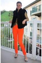 Marc by Marc Jacobs vest - Juicy Couture jeans - Zara sweater - Browns flats