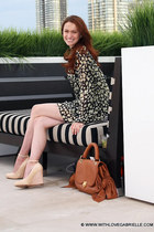 Winter Kate dress - Zac Posen bag - Marc by Marc Jacobs wedges