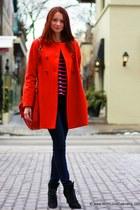 Zara coat - Manolo Blahnik boots - 7 for all mankind jeans