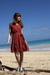 Red-h-m-dress-blue-h-m-shoes-blue-urban-outfitters-swimwear