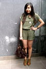 Green-forever-21-shorts-brown-forever-21-bag-brown-asos-shoes-gold-house-o