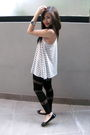Gray-forever-21-top-black-asos-leggings-silver-diva-bracelet-silver-foreve