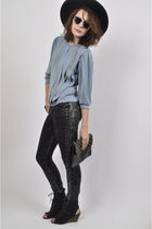 blue wwwyayercouk Yayer blouse - black wwwyayercouk Yayer bag