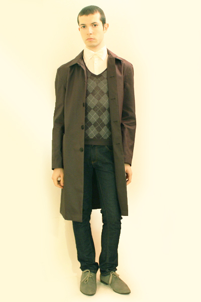 white Zara shirt - gray Hanjiro vest - blue Zara jeans - gray H&M coat - gray H&