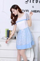 Short Sleeve Korean Dress Lace Skirt YRB0043