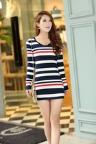 Slim stripe dress T-shirt ghl2172