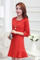 Classy Mini Dress Long Sleeves YRB0314