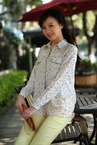 stars print long sleeve blouse top shirt ghl0121