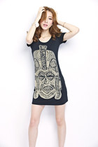 Print short-sleeved T-shirt dress ghl2149