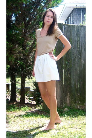beige Gap shirt - white made from my moms shorts skirt