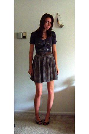 Express shirt - vintage skirt