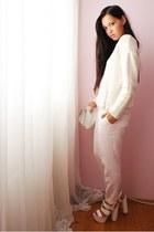 H&M sweater - H&M pants - Nellycom heels