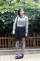 periwinkle Topshop sweater - white Baby Jane belt - black baleno attitude skirt