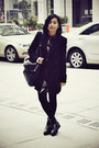 Black-puzzle-boots-black-bird-prints-chapel-dress-black-zara-coat-black-di