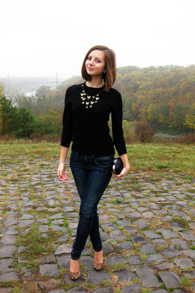 navy LTB jeans - black sela sweater