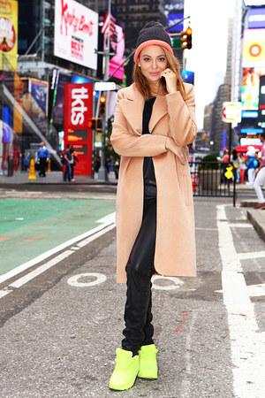 Verezo coat - Totti hat - nike sneakers - Balmain pants - Zara blouse
