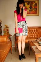 Gap top - skirt - Miss Selfridges purse - warehouse accessories - Charles & Keit