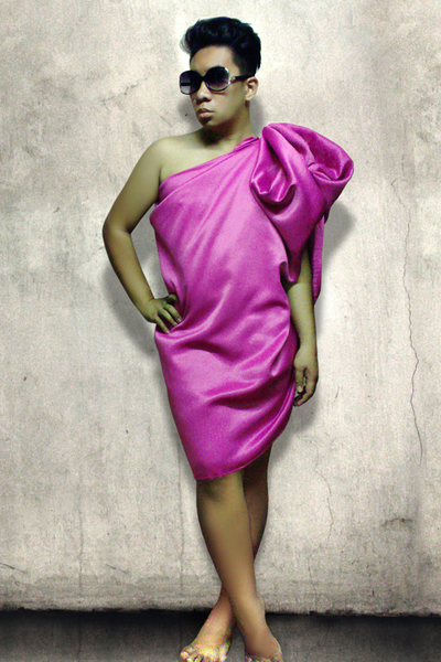 pink Faux Lanvin dress
