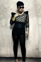 black vintage Ungaro top