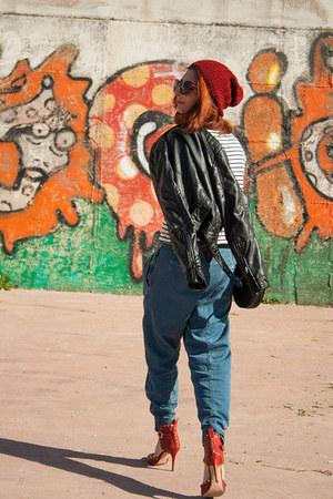 Zara jeans - H&M jacket - Zara heels