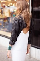 black cropped leather Top Shop jacket
