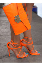 carrot orange leather Jimmy Choo bag - carrot orange leather Jimmy Choo sandals