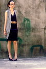 Xoxo-dress-glamorosa-blazer-aldo-shoes-vintage-necklace-vintage-bracelet