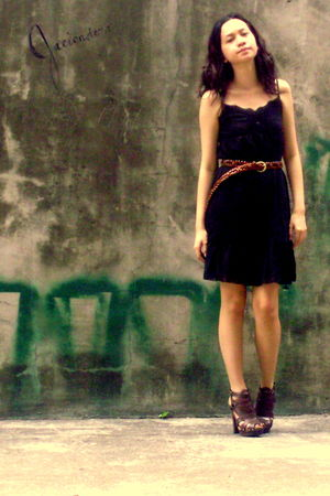 giordano dress - Aldo shoes - vintage belt