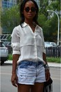 Light-blue-garage-clothing-shorts-white-forever21-blouse
