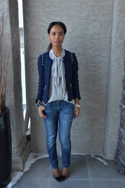 Zara jacket - Country Road blouse