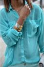 Teal-g21-jeans-teal-chiffon-garage-blouse
