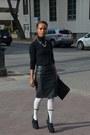 White-legwear-loft-tights-black-leather-forever-21-skirt