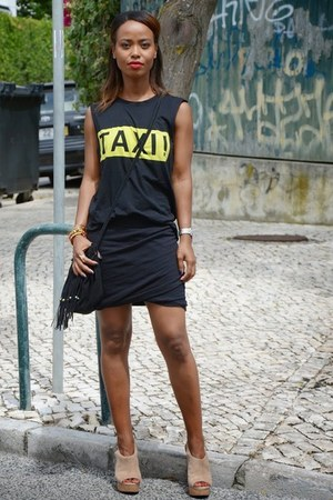 black Zara skirt - black Zara t-shirt