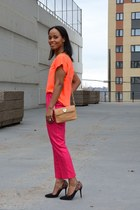 orange G21 heels - hot pink H&M pants