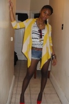 Old Navy sweater - H&M shirt - Nine West belt - Urban Behaviour - Macys shoes -