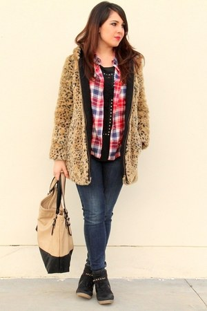 Primark t-shirt - Zara coat - Primark shirt - Zara bag - Mango pants