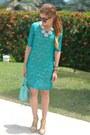 Teal-lace-speechless-dress-light-blue-mab-mini-rebecca-minkoff-bag