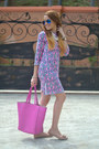 Pink-jcrew-dress-hot-pink-co-lab-bag-bronze-emery-flats-jcrew-flats